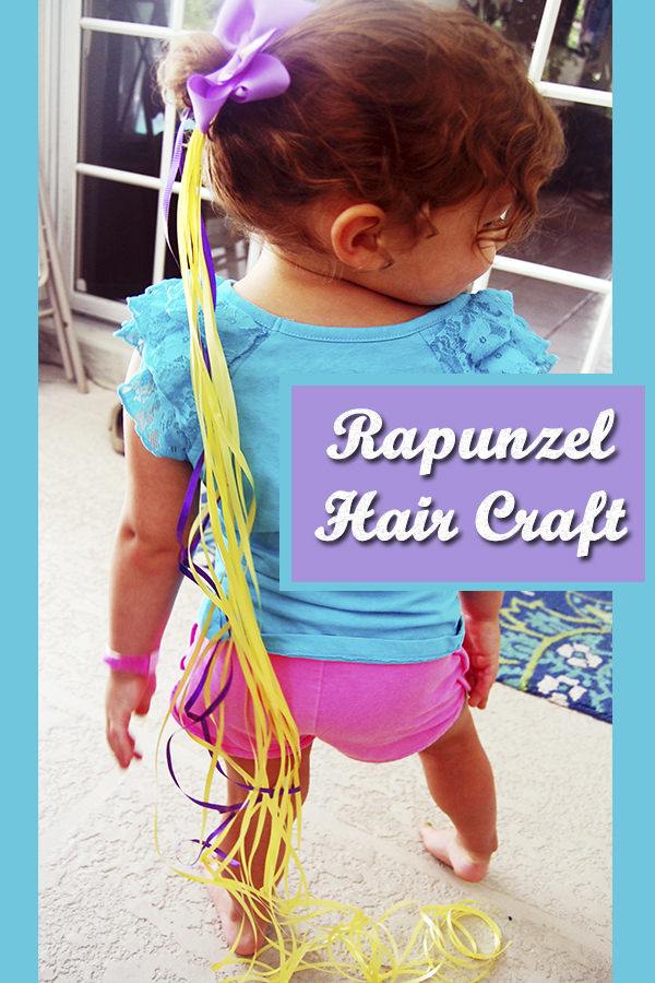 """Rapunzel Hair Craft fun for girls! My daughter loves the movie """"Tangled"""" so this was a fun craft/game to make and play!"""
