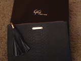 My Gift to Myself: Gigi New York Grey Embossed Python Clutch