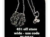 MonogramOnline.com Love These Necklaces! Get 45% Off With Code!