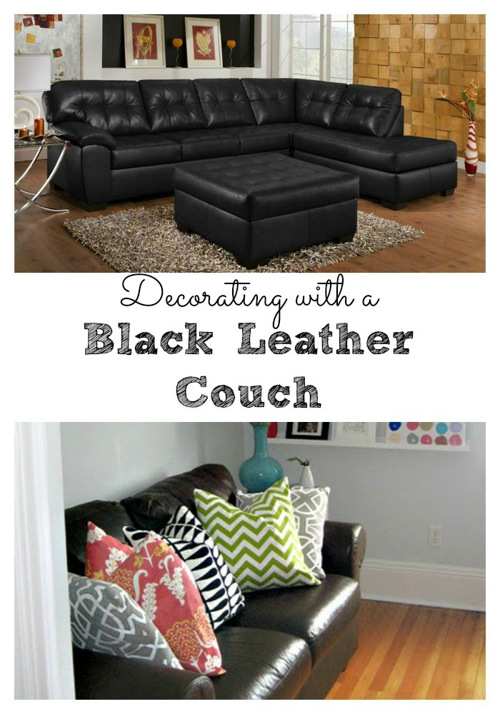 It's considered the centerpiece of a home for a reason. Living Room Decorating Ideas - Black Leather Couch