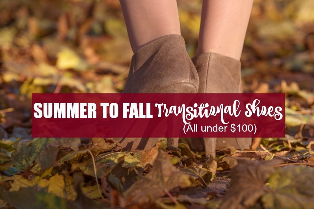summer to fall transitional shoes