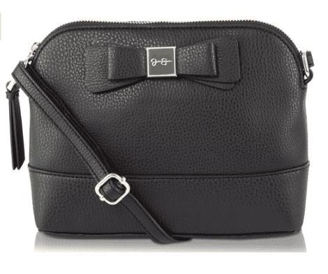 Jessica Simpson Womens Evette Faux Leather Bow Crossbody Handbag