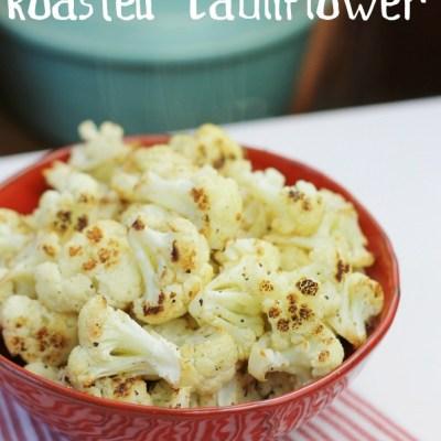 lemon truffle roasted cauliflower