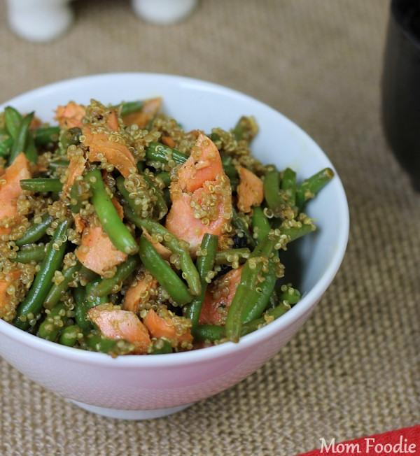 asian salmon quinoa green bean salad