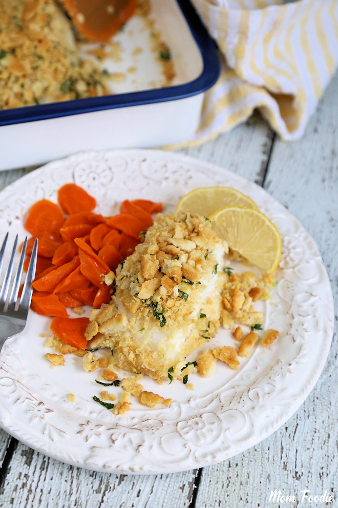 Baked Cod on plate