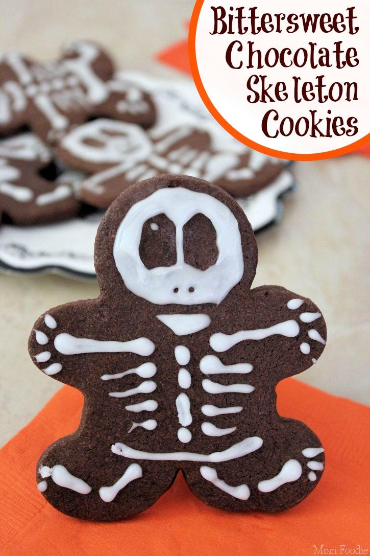 Bittersweet Chocolate Skeleton Cookies