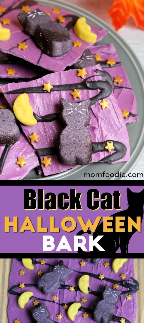 Black Cat Halloween Bark