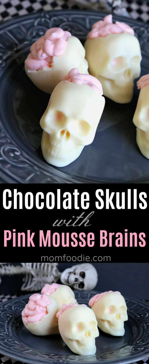 Chocolate Skulls with Brains Dessert