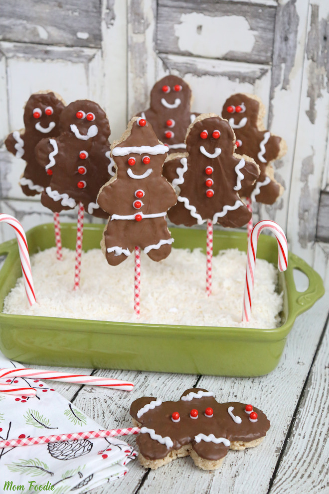 Christmas Rice Krispies Treats Recipe - Gingerbread Boy Pops