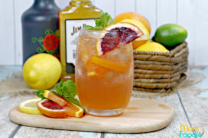 Citrus bourbon iced tea
