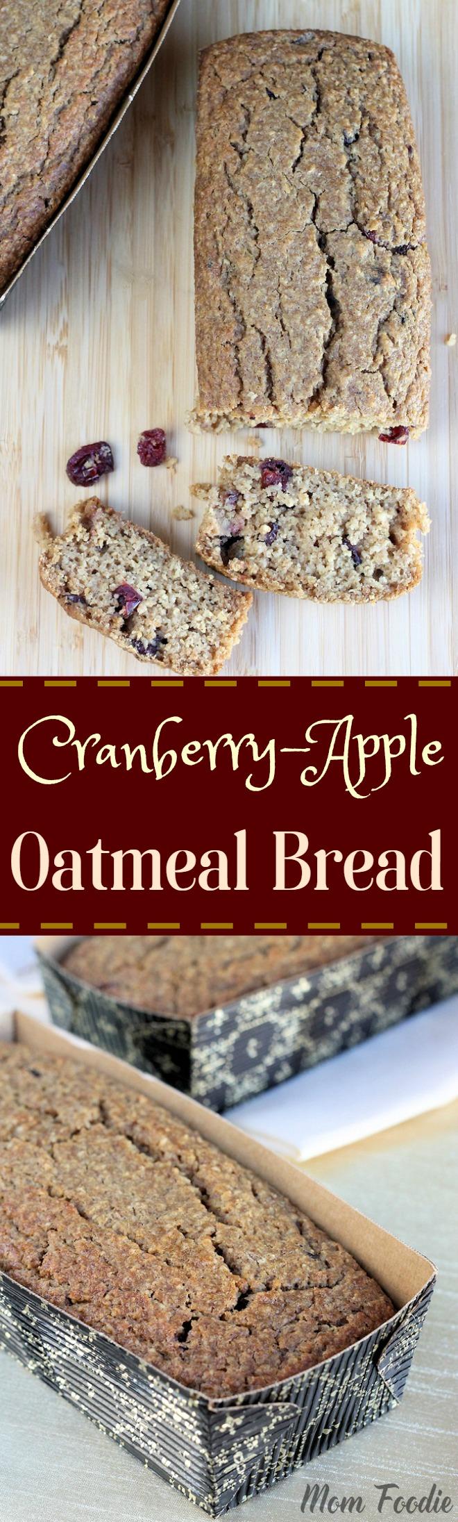 Cranberry Apple Oatmeal Bread