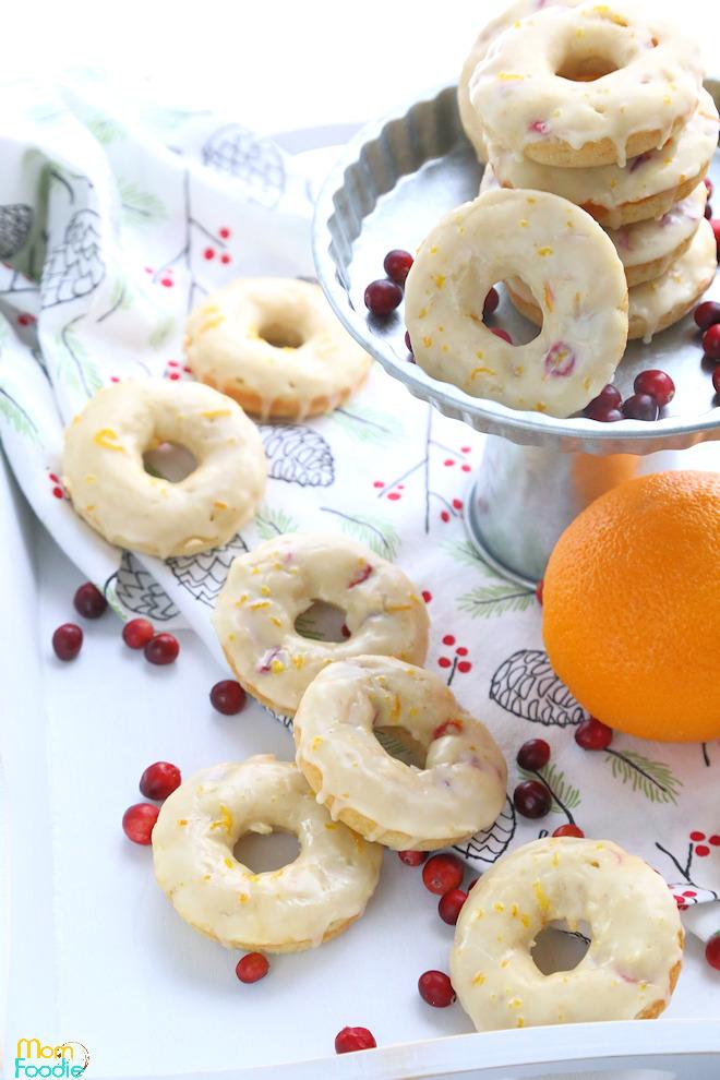 Cranberry Orange Donuts