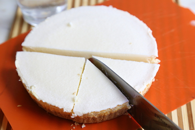 Cutting Cheesecake for Tree Shapes
