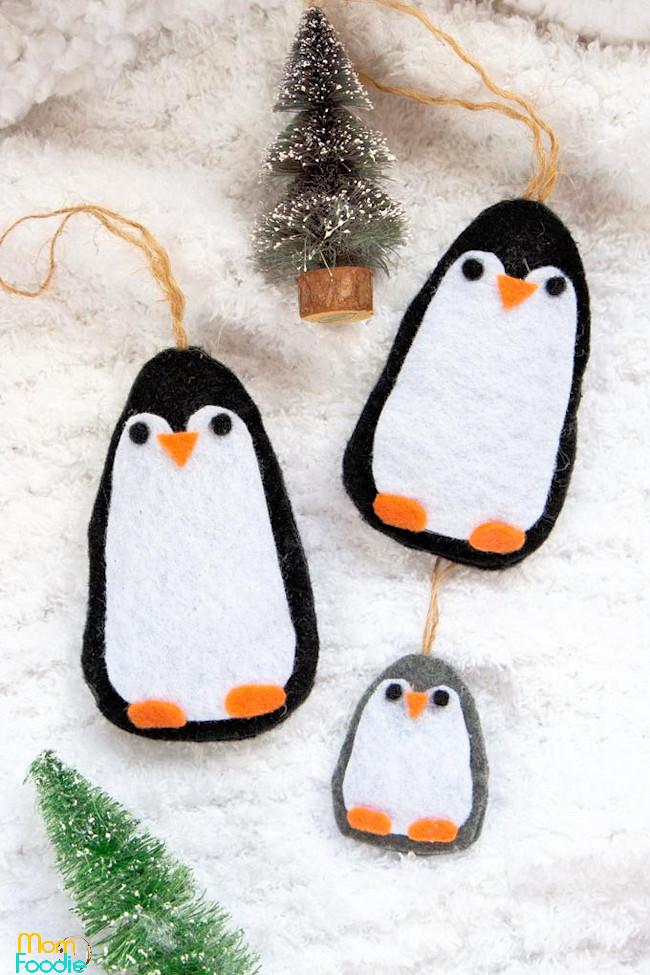 Felt Penguin Ornaments DIY