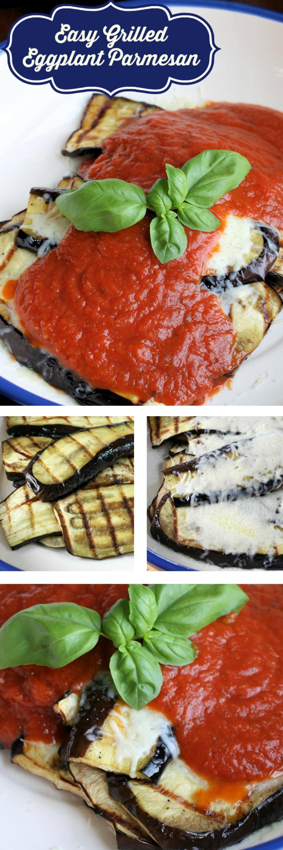 Grilled Eggplant Parmesan recipe - low carb vegetarian meal #vegetarian #lowcarb #eggplant