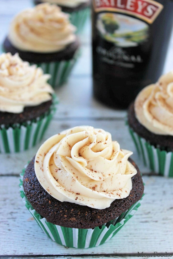 Chocolate Guinness Cupcakes with Bailey's Frosting Recipe