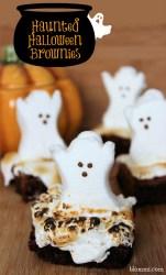 Haunted Halloween Brownies