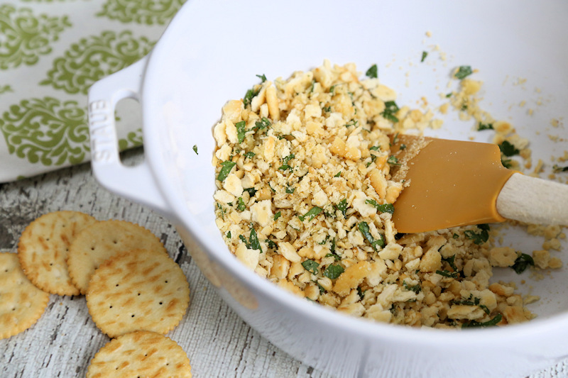 Cracker Topping for baked cod