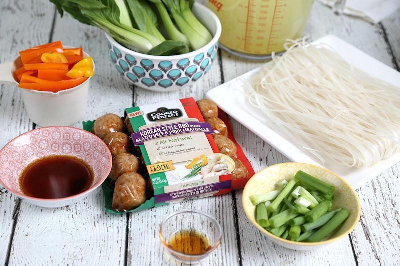 Korean Meatball Hot Pot Ingredients