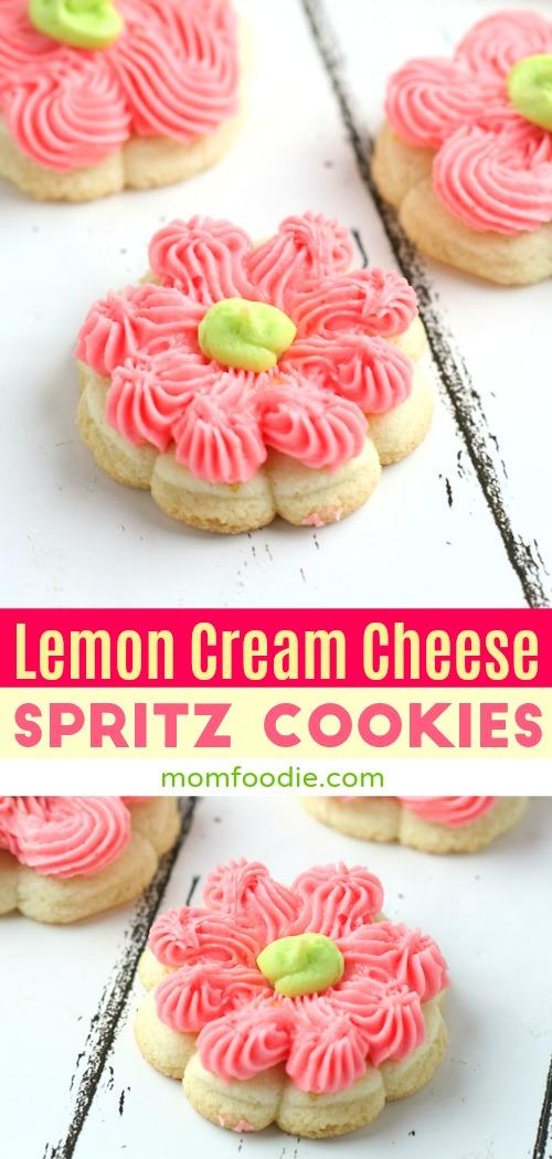 Lemon Cream Cheese Spritz Cookies Recipe