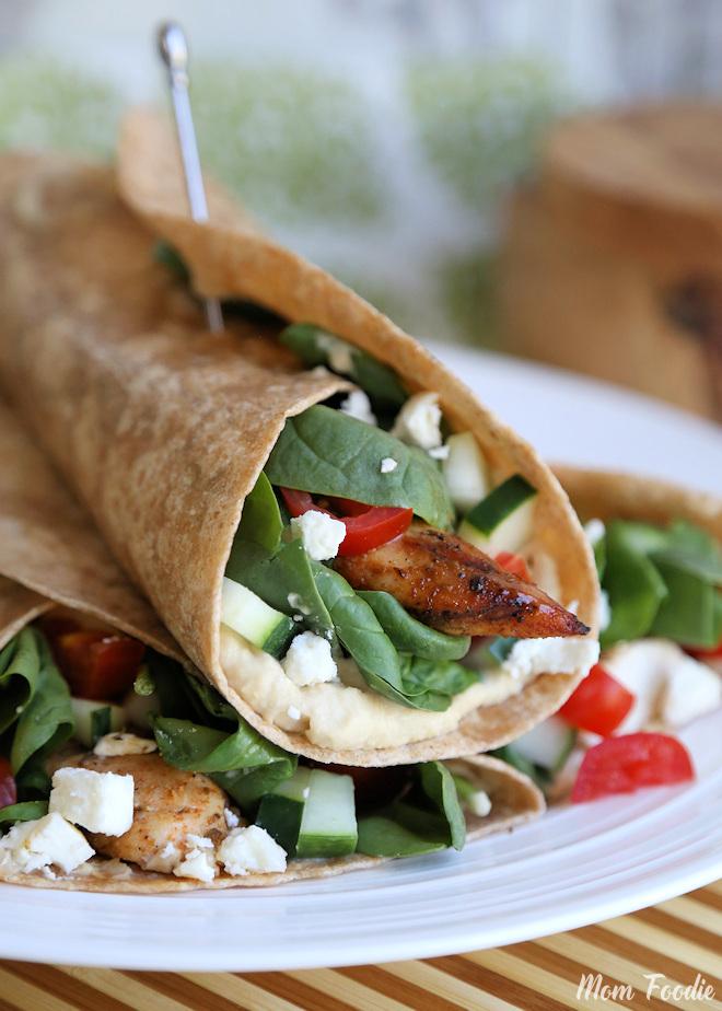 Mediterranean Chicken Wrap 3
