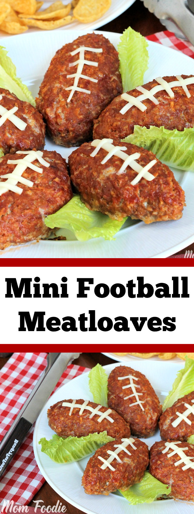 Football Mini Meatloaves are an easy football party food that guests will love.