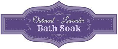 Oatmeal Lavender Bath Soak Free Printable Labels