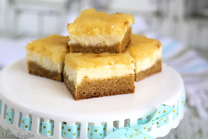 Pineapple Cheesecake Blondies Bars Recipe