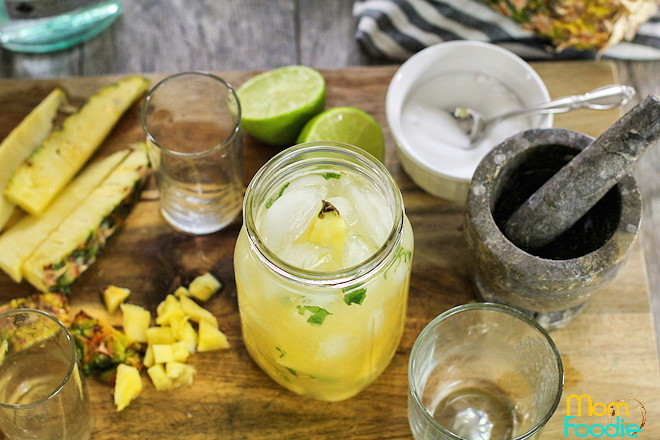 Pineapple Mojito cocktail shaker