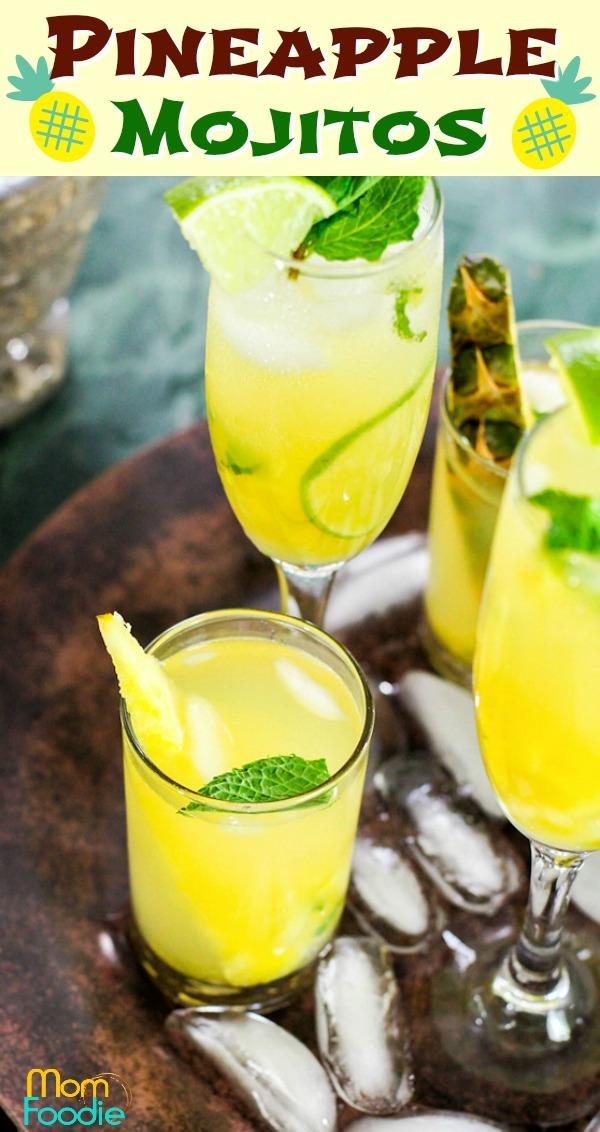 Pineapple Mojitos