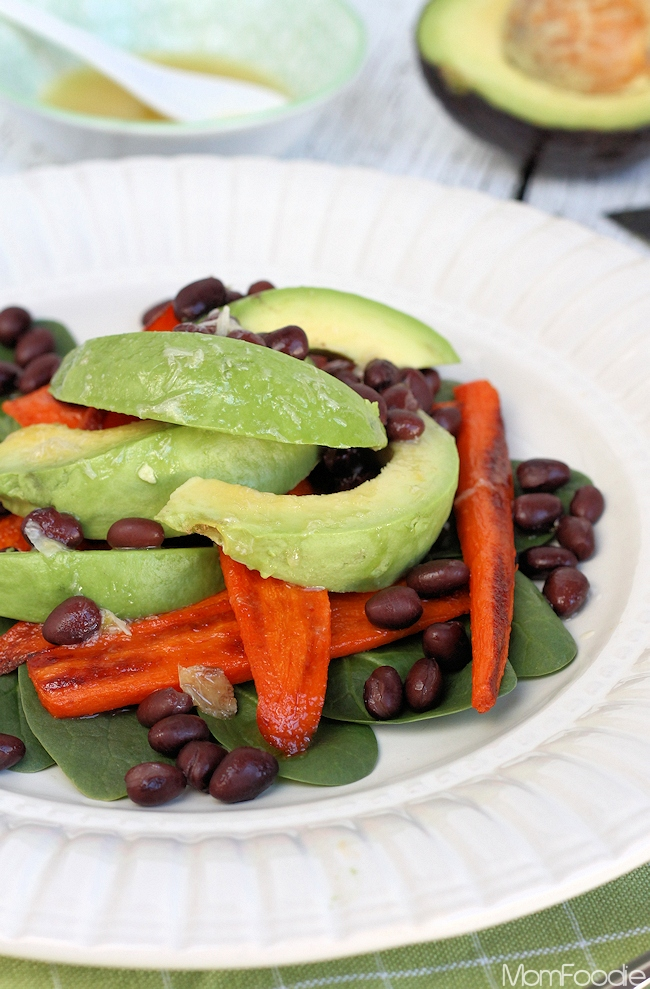 Smokey Roasted Carrot, Avocado & Black Bean Salad Recipe ...