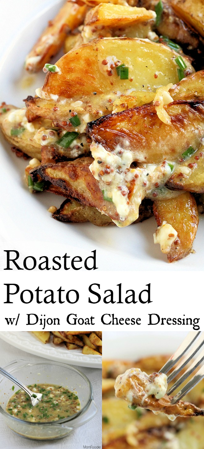Roasted Potato Salad with Dijon and Goat Cheese Dressing