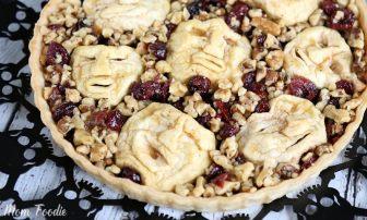 Shrunken Head Apple Cranberry Walnut Tart
