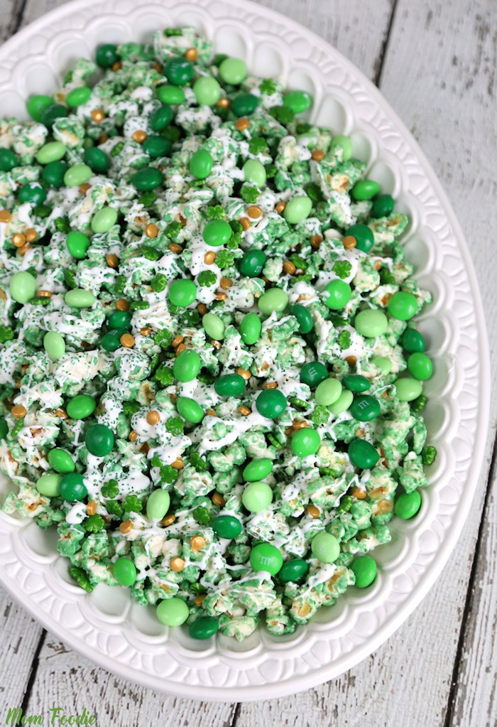 St. Patrick's Day Popcorn - Green Leprechaun popcorn