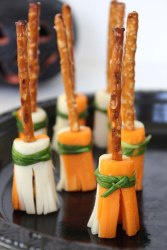 Witch Brooms Cheese Snacks