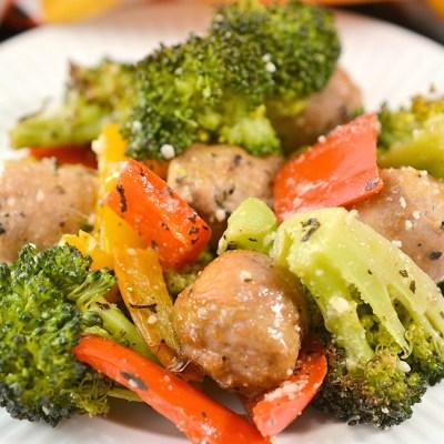 keto Sheet Pan Sausage and Vegetables