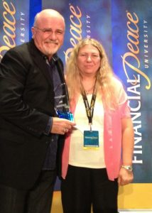 Dave Ramsey and Deanna Ooley, 2012 Outstanding Financial Peace Coordinator of the Year