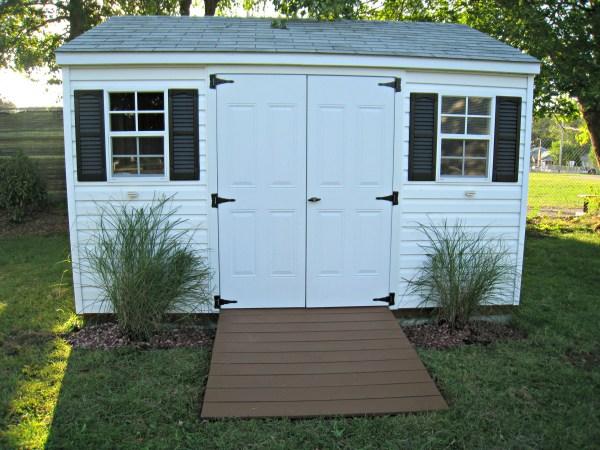 sprucing storage shed