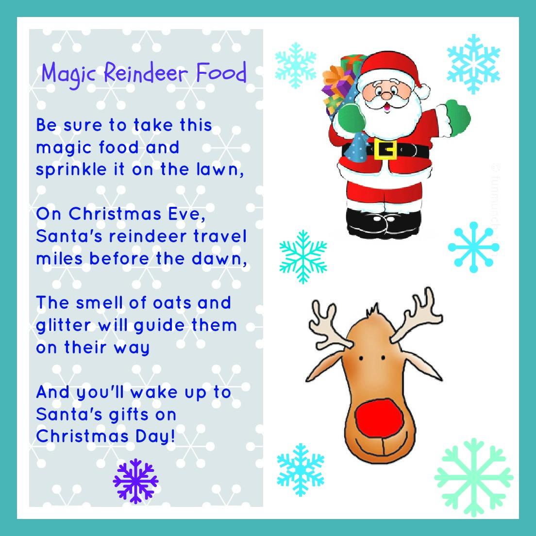 Magic Reindeer Food Free Printable