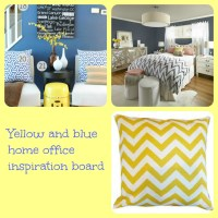 Yellow and Blue Inspiration Board - momhomeguide.com
