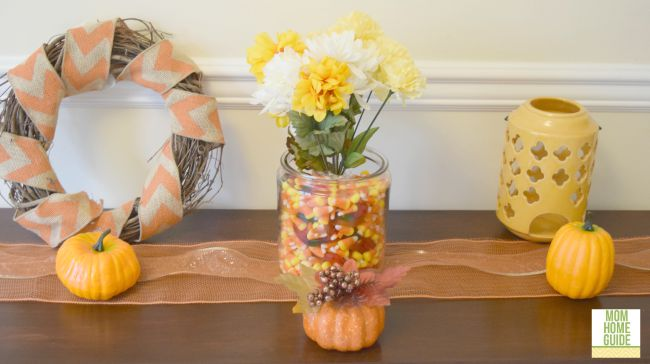 fall console table or mantel