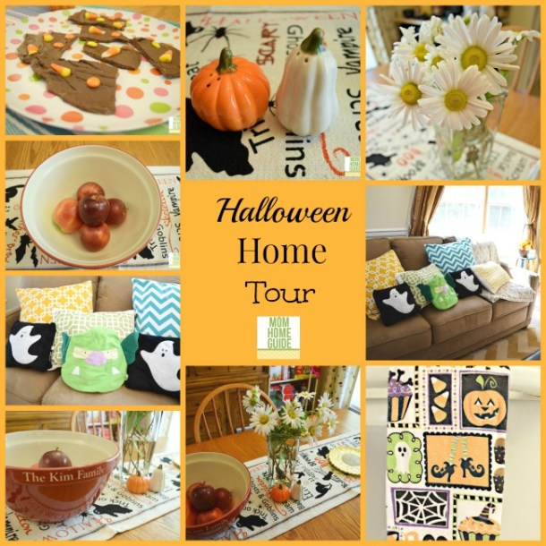 Holiday Craftacular -- see how Lauren of Mom Home Guide has decorated her home for Halloween! Plus, link up at our linky party and stop by all this week to see the next installments in this Holiday Craftacular blog hop!