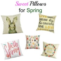 Cute and Sweet Spring Pillows