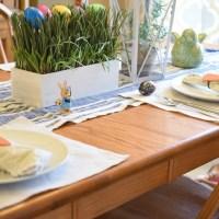 Spring Salad & Easter Tablescape