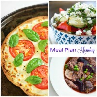 Meal Plan Monday -- Caprese Tortilla Pizza & Turnip and Beef Roast