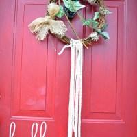 Lace and Ivy Boho Christmas Wreath