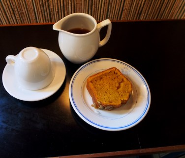 Pumpkin loaf + the most delicious cup of aeropress coffee