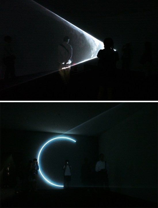 If you stare at the light you can see mist, but if you stare at the wall you see a circle slowly forming