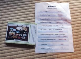Sagano is a tofu restaurant with only one option on the menu: a tofu kaiseki meal