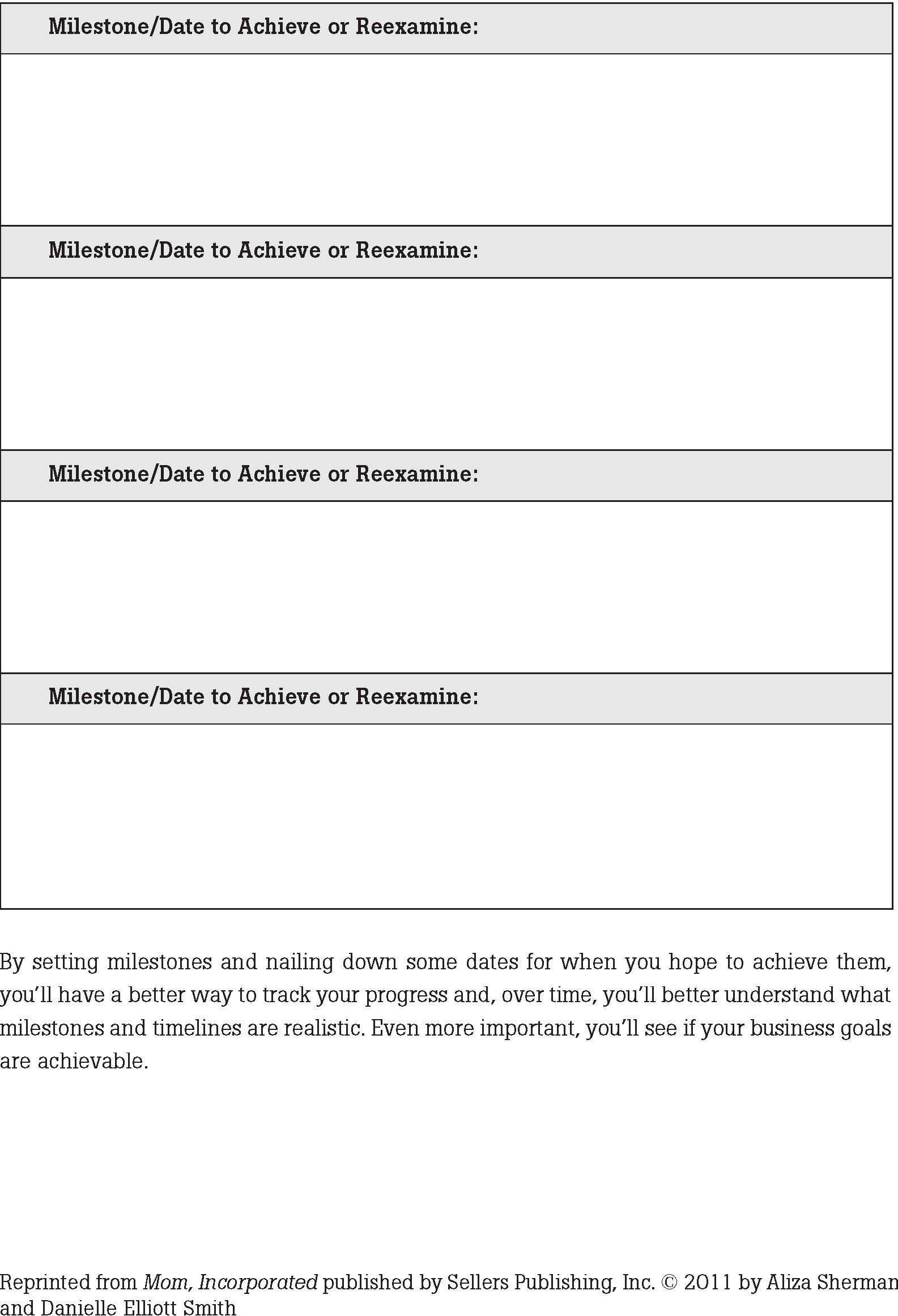 Worksheets No 5 Amp 6 Goals And Milestones